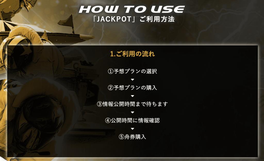 ジャックポットの利用方法ページ