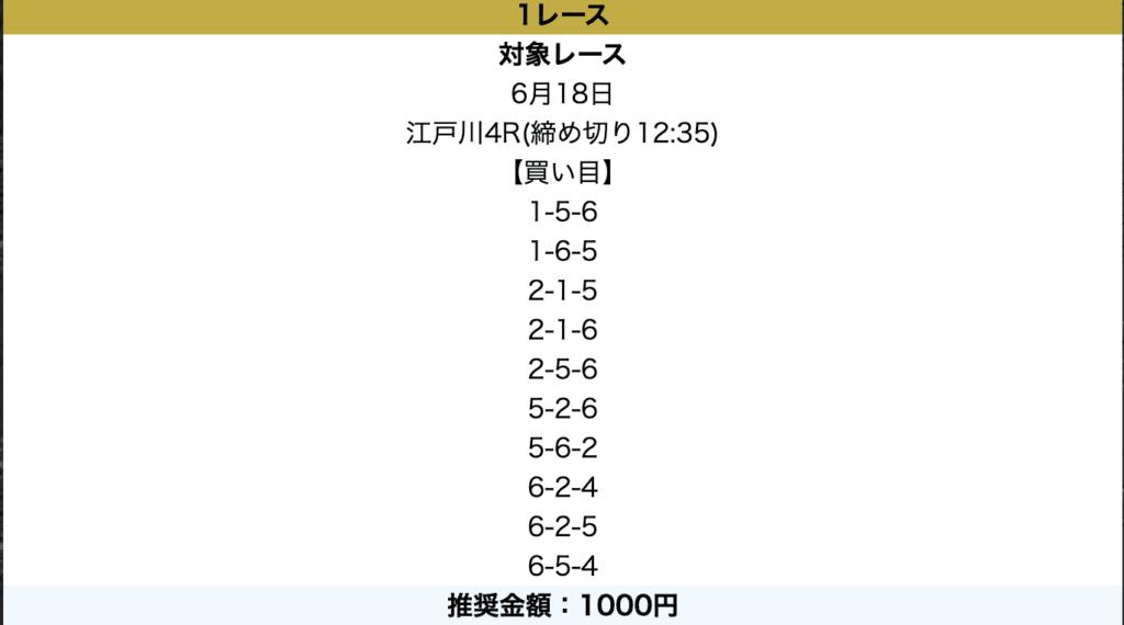 競艇神舟の6月18日無料予想プラン